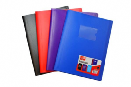 SUPREME A4 80 POCKET SOFT COVER DISPLAY BOOK 4-ASST COLOURS